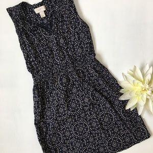 Loft Summer Dress XXSP Navy Blue